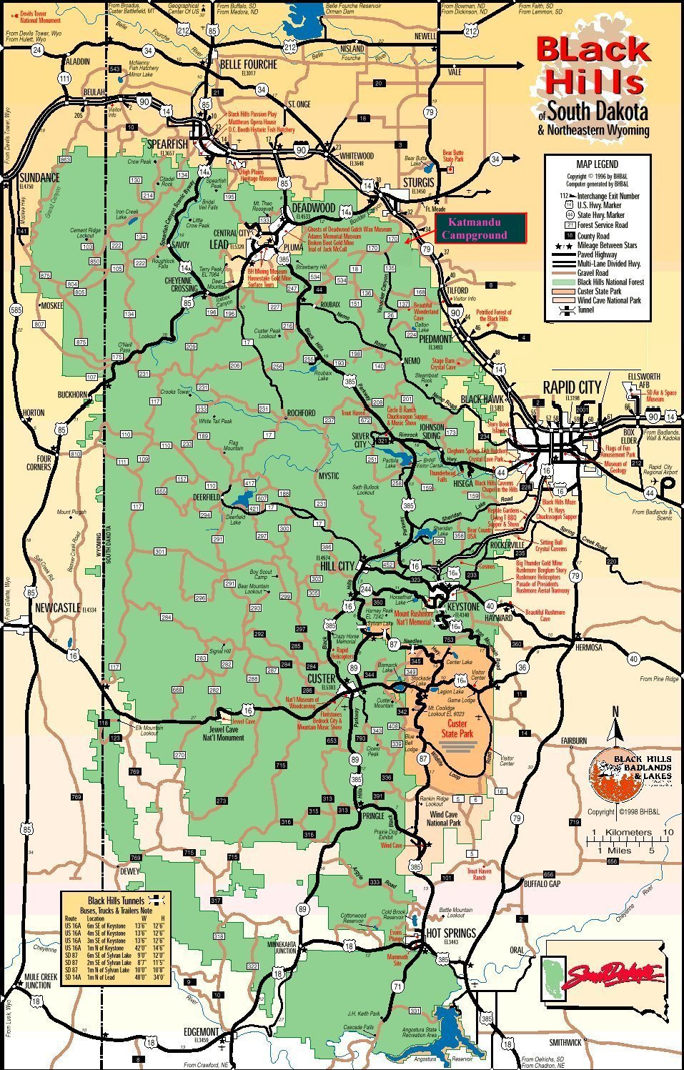 map of sturgis south dakota Katmandu Campground Map map of sturgis south dakota